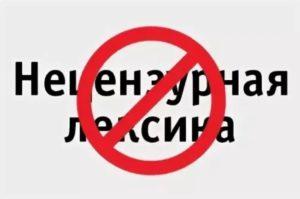 Нецензурная лексика запрещена