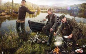 мужики на рыбалке